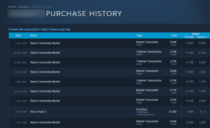 View Steam Purchase History